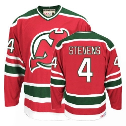 Scott Stevens CCM New Jersey Devils Authentic Red/Green Team Classic Throwback NHL Jersey