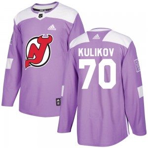 Dmitry Kulikov Youth Adidas New Jersey Devils Authentic Purple Fights Cancer Practice Jersey